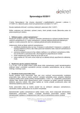 Spravodaj 03/2011 Zákoník práce