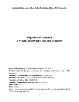 Vnútorná smernica zamestnávateľa