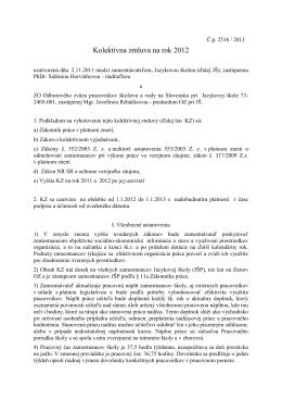 Kolektívna zmluva na rok 2012 (pdf)