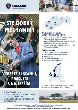 Scania - možnosť práce v zahraničí