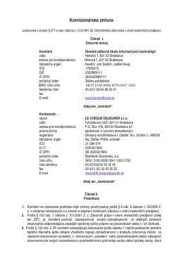 Zmluva LE CHEQUE DEJEUNER s.r.o. / 2014