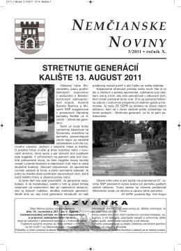 Nemčianske noviny č. 3/2011