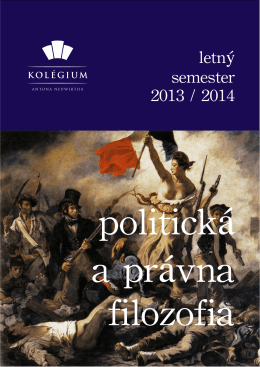 Morálna, politická a právna filozofia (letný semester 2014