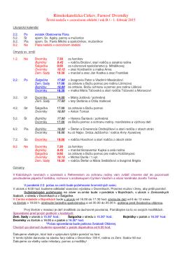 Farské oznamy od 1. do 8. februára 2015 (.pdf)
