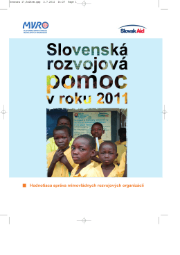 Slovenská rozvojová pomoc v roku 2011