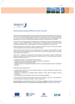 Výročná správa iniciatívy JASPERS za rok 2011: zhrnutie
