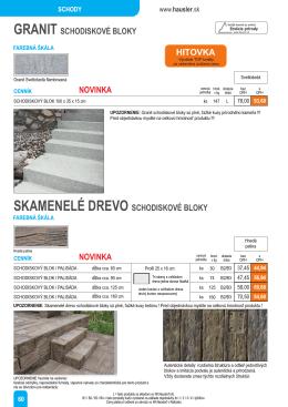 granit schodiskové bloky