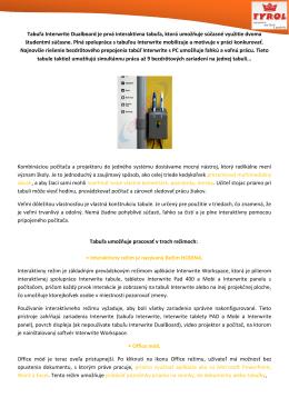Tabuľa Interwrite Dualboard je prvá interaktívna
