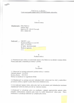 Zmluva o dielo - EKOFIT, s.r.o.
