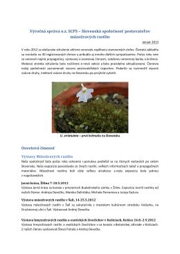 Výročná správa SCPS za rok 2012