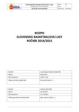 Rozpis SBL 14-15