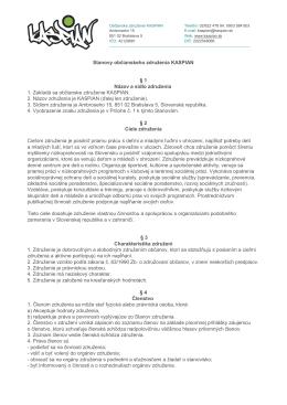 Stanovy občianskeho združenia KASPIAN § 1 Názov a sídlo