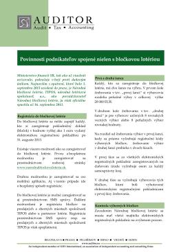 Ecoplus_Povinnosti podnikateľov spojené nielen s bločkovou