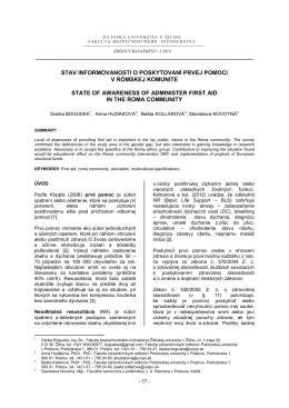 Článok KM - Fakulta bezpečnostného inžinierstva