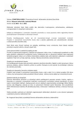 O občianskom združení Stará škola - Stiahnuť PDF