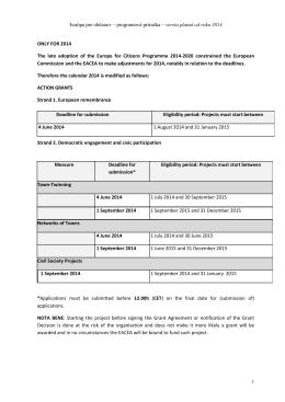 Programová príručka - EACEA