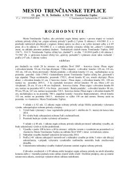 Č - Trenčianske Teplice