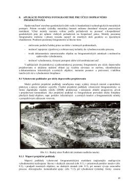 8. Aplikácie pozemnej fotogrametrie pre účely dopravného