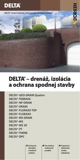 DELTA® – drenáž, izolácia a ochrana spodnej stavby