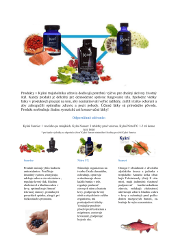 Produkty v Kyäni trojuholníku zdravia dodávajú