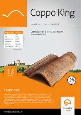 Katalógový list - Talianske strechy