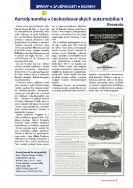 Aerodynamika v československých automobiloch