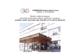 Gymnázium Federica Garcíu Lorcu