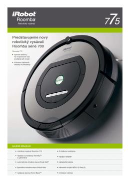 Produktový list iRobot Roomba 775