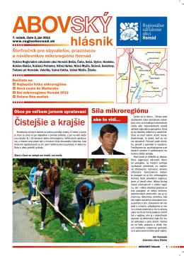 2/2012 - Regionálne združenie obcí Hornád