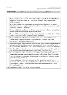 PL prenos informácií medzi aplikáciami