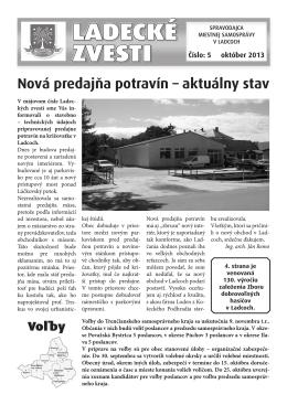 Október 2013 - Aktuality obce Ladce