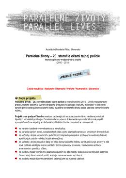 Projekt Paralelné životy (marec 2013)