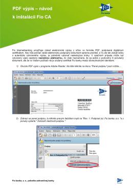 PDF výpis - návod k instalaci Fio CA