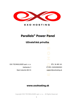 Parallels® Power Panel