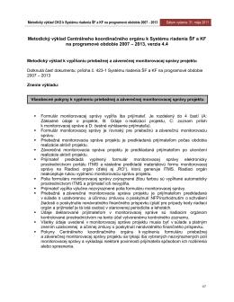 Metodický výklad CKO z 31. 05. 2011