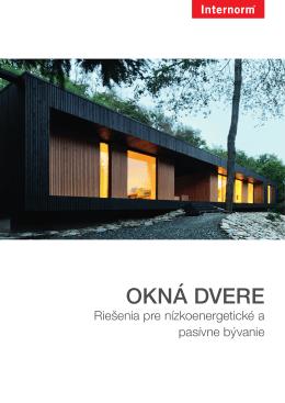 Internorm katalog OKNA DVERE