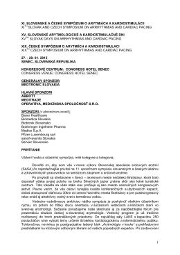 Všeobecné informácie - Slovenská asociácia srdcových arytmií