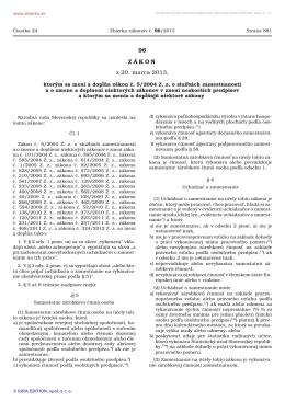 96/2013 Zákon, ktorým sa mení a dopĺňa zákon č. 5/2004 Z. z. o