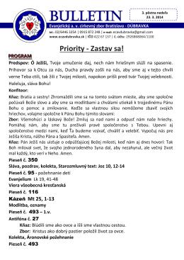 bl. 23.3.2014 - ECAV Dúbravka