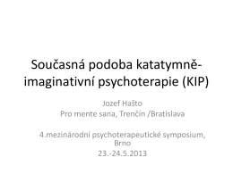 KIP - Časopis Psychoterapie FSS MUNI
