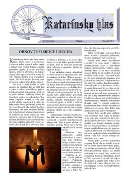 Katarínsky hlas 1/2013