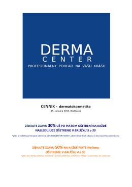 CENNÍK - dermatokozmetika