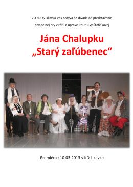 """Jána Chalupku """"Starý zaľúbenec"""""""