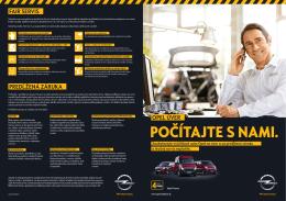 POČÍTAJTE S NAMI. - Úžitkové vozidlá Opel