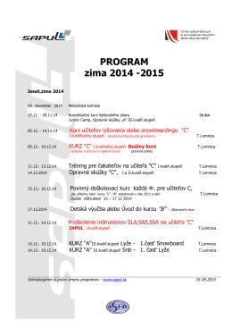 Aktuálny program