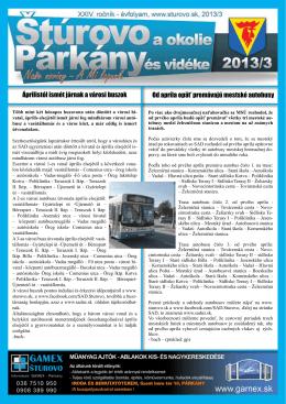 2013/3 - Mesto Štúrovo