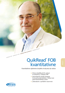 QuikRead FOB quantitative Prefilled Cuvettes