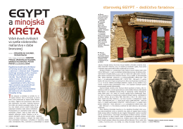 Egypt a minojská Kréta