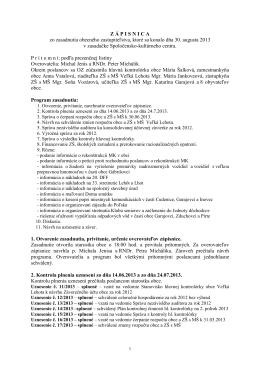 Zapisnica OZ z 30.08.2013