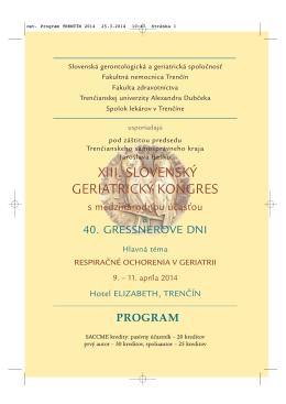 ost. Program TREN..N 2014 - Slovenská Gerontologická a